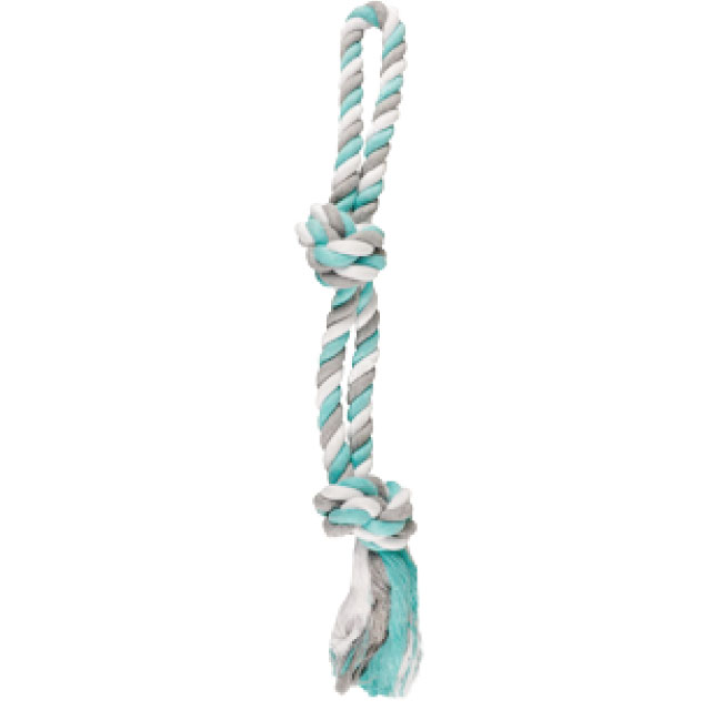 DT COTTON JIM PLAYING ROPE 2 KNOTS JUMBO 50CM